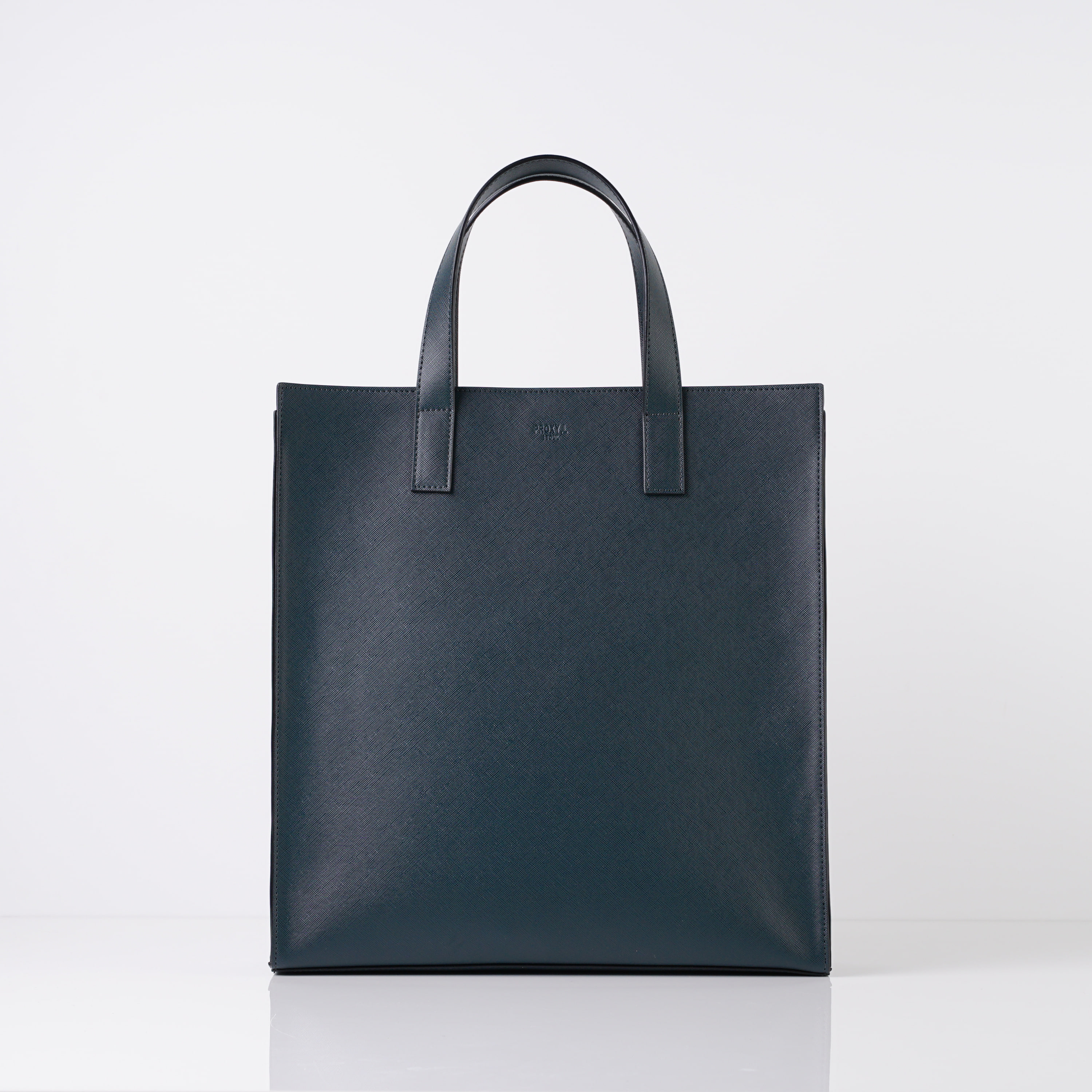 vegan leather square tote large (GR)