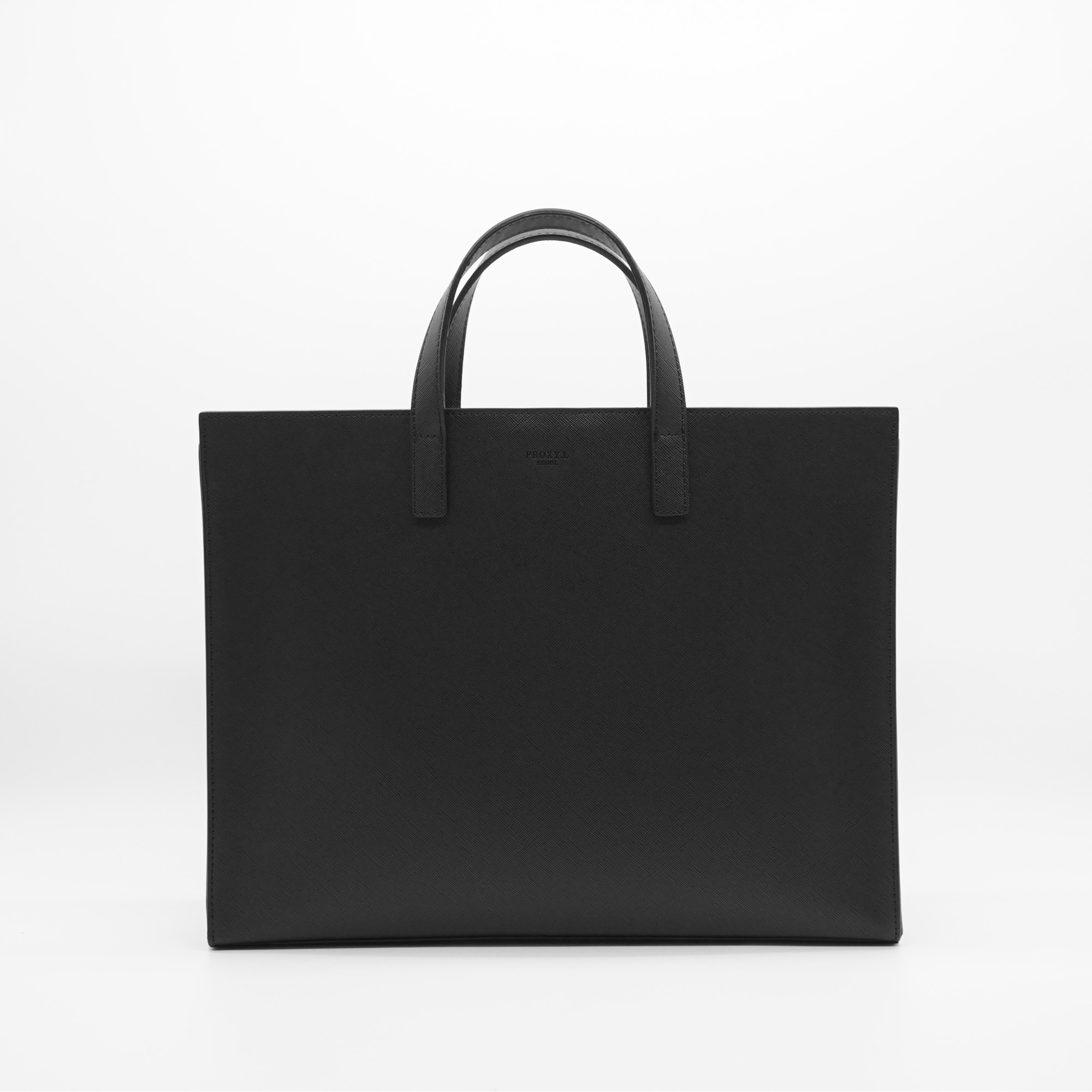 vegan leather horizon tote regular (BK)